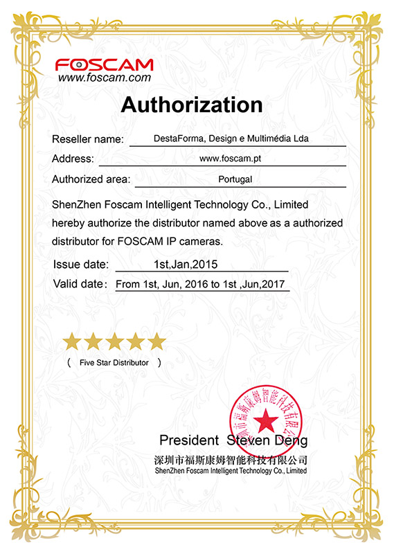 Certificado Foscam