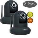 Pack  2 Câmaras Foscam FI9831P - WIFI (preto)