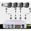 Kit Videovigilância Foscam 4-Camâras HD